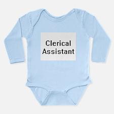 Clerical Assistant Retro Digital Job Des Body Suit