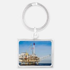 Oil Rig Landscape Keychain