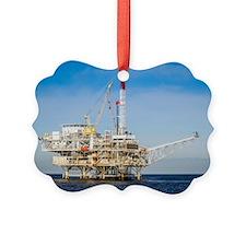 Oil Rig Picture Ornament