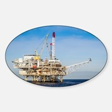 Oil Rig Sticker (Oval)