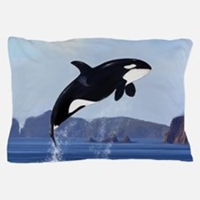 Orca Breaching Pillow Case