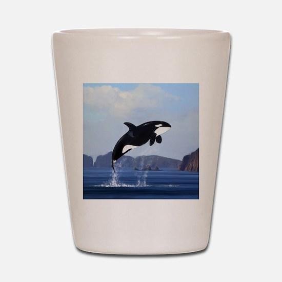 Orca Breaching Shot Glass