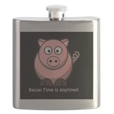 Cute Eating bacon Flask