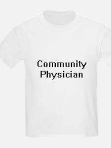 Community Physician Retro Digital Job Desi T-Shirt