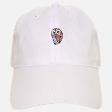 Tawny Owl Bird Watercolor / watercolour pencil Baseball Baseball Cap