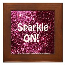 SPARKLE ON Framed Tile