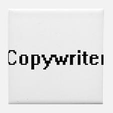 Copywriter Retro Digital Job Design Tile Coaster