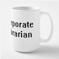 Corporate Librarian Retro Digital Job Design Mugs