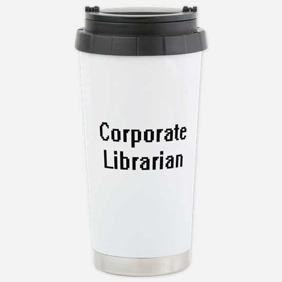 Corporate Librarian Ret Stainless Steel Travel Mug