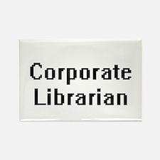 Corporate Librarian Retro Digital Job Desi Magnets