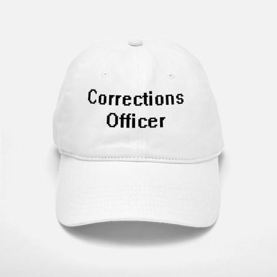 Corrections Officer Retro Digital Job Design Baseball Baseball Cap