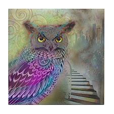 Sacred Owl Tile Coaster