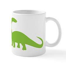 Green brontosaurus Dinosaur Mugs