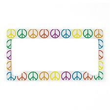 Peace Symbols License Plate Holder
