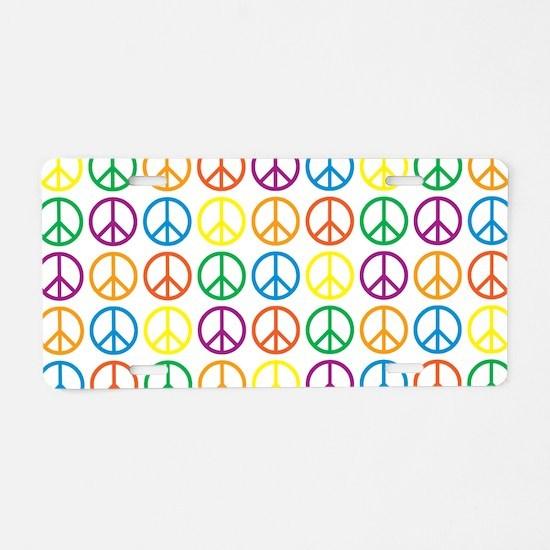 Peace Symbols Aluminum License Plate