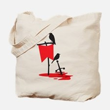 Crows on the battlefield RED Tote Bag