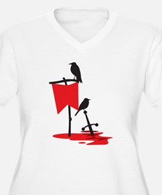 Crows on the battlefield RED Plus Size T-Shirt