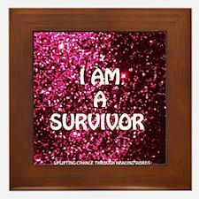 I AM A SURVIVOR Framed Tile