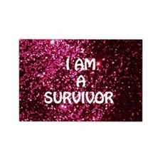 I AM A SURVIVOR Rectangle Magnet