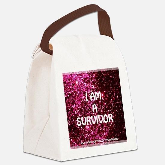 I AM A SURVIVOR Canvas Lunch Bag