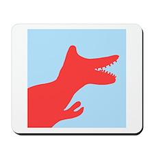 Dinosaur Silhouette Cest Chouette Drake' Mousepad