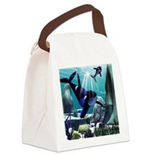 Underwater world Canvas Lunch Bag
