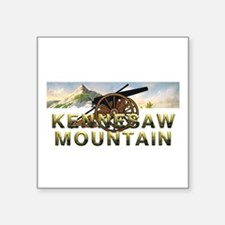 "ABH Kennesaw Mountain Square Sticker 3"" x 3"""