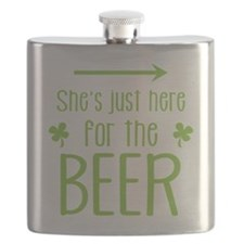 She's just here for the beer Flask