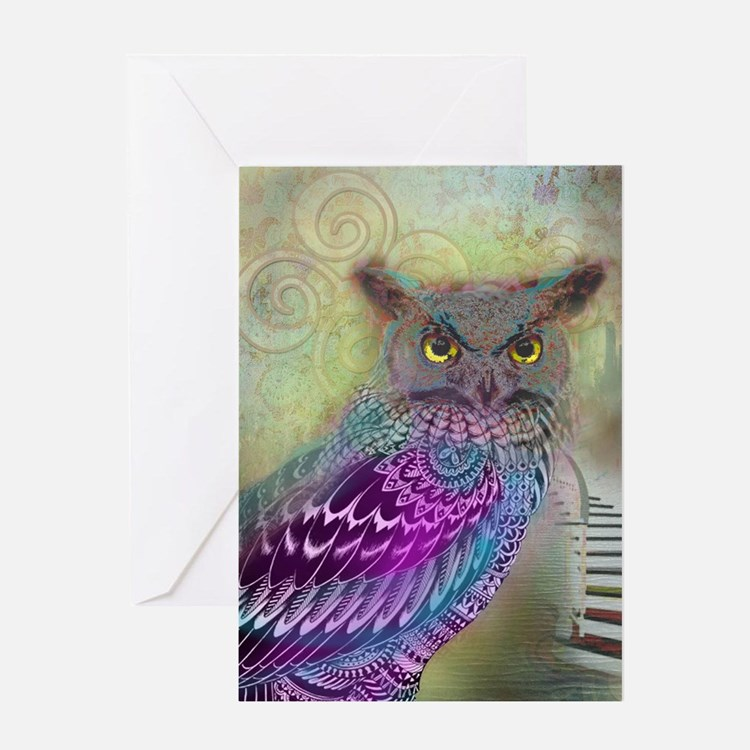 Sacred Owl Greeting Cards