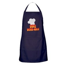 BBQ Boss man Apron (dark)