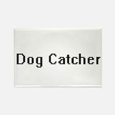 Dog Catcher Retro Digital Job Design Magnets