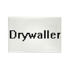 Drywaller Retro Digital Job Design Magnets