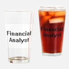 Financial Analyst Retro Digital Job Drinking Glass