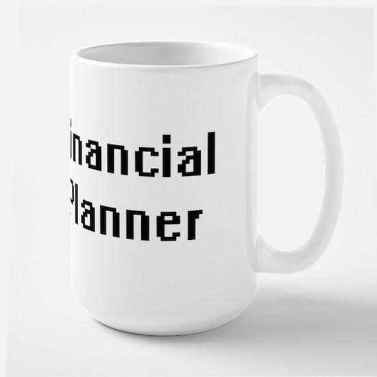 Financial Planner Retro Digital Job Design Mugs