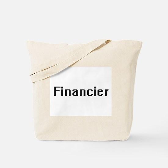 Financier Retro Digital Job Design Tote Bag