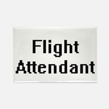 Flight Attendant Retro Digital Job Design Magnets