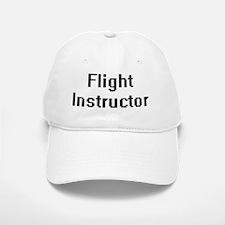 Flight Instructor Retro Digital Job Design Baseball Baseball Cap