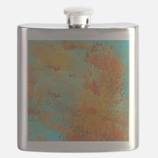Turquoise and Copper Red Flask