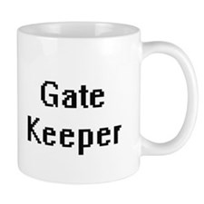 Gate Keeper Retro Digital Job Design Mugs