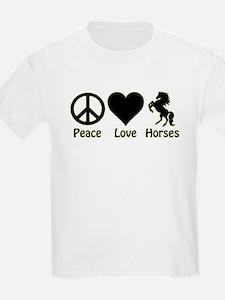Peace - Love - Horses T-Shirt