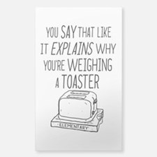 Elementary Weighing A Toaster Decal