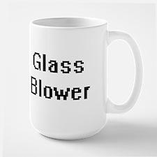 Glass Blower Retro Digital Job Design Mugs