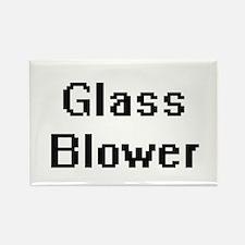 Glass Blower Retro Digital Job Design Magnets