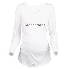 Greengrocer Retro Di Long Sleeve Maternity T-Shirt