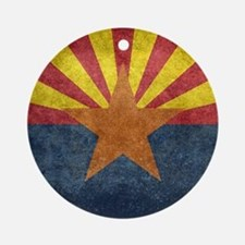Arizona the 48th State - vintage Ornament (Round)