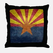 Arizona the 48th State - vintage retr Throw Pillow