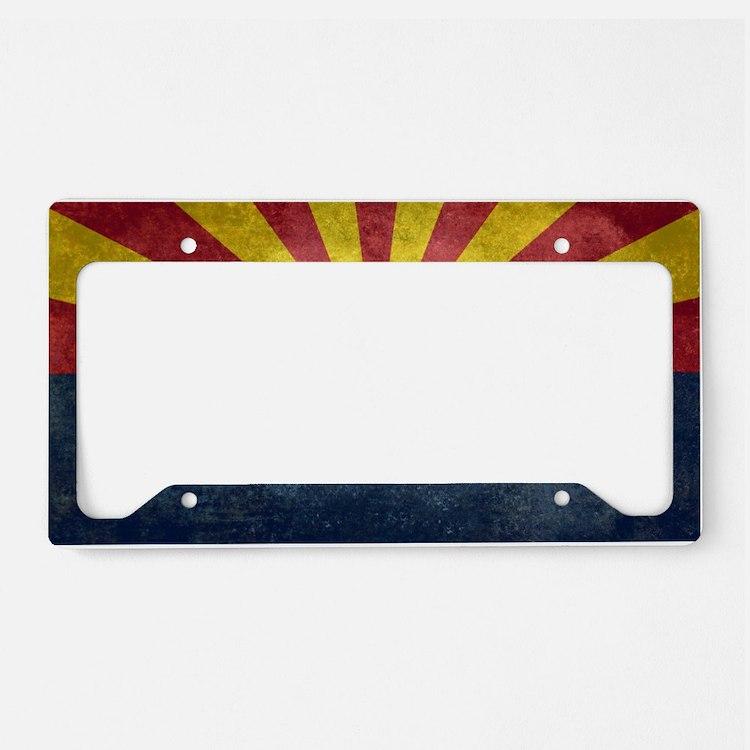 Arizona Flag Licence Plate Frames Arizona Flag License