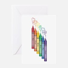 Colorful Crayons Greeting Cards