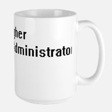 Higher Education Administrator Retro Digital Mugs