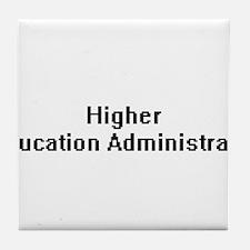 Higher Education Administrator Retro Tile Coaster